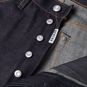 men's straight fit japanese selvedge denim jeans | indigo | benzak BDD-707 special #1 low tension 14 oz. RHT | four button fly