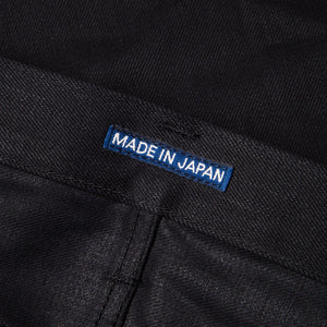 men's tapered fit japanese selvedge denim jeans | indigo | benzak BDD-711 black black 14 oz. RHT | japan label