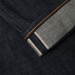 men's tapered fit japanese selvedge denim jeans | indigo | benzak BDD-711 green cast 15 oz. RHT | selvedge id