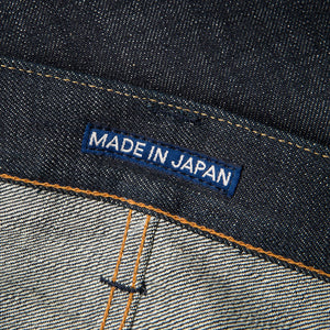men's tapered fit japanese selvedge denim jeans | indigo | benzak BDD-711 green cast 15 oz. RHT | japan label
