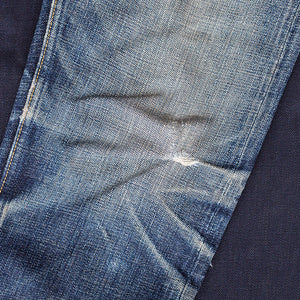 men's tapered fit japanese selvedge denim jeans | indigo | benzak BDD-711 heavy slub 16 oz. RHT | fades