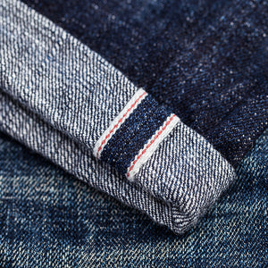 men's tapered fit japanese selvedge denim jeans | indigo | benzak BDD-711 heavy slub 16 oz. RHT | raw jeans