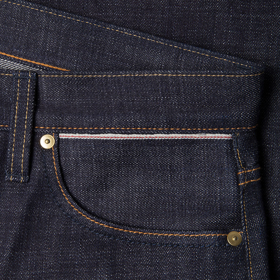 men's tapered fit japanese selvedge denim jeans | indigo | benzak BDD-711 heavy slub 16 oz. RHT | selvedge sixth pocket