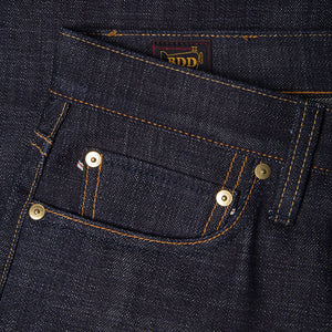 men's tapered fit japanese selvedge denim jeans | indigo | benzak BDD-711 heavy slub 16 oz. RHT | coin pocket