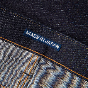 men's tapered fit japanese selvedge denim jeans | indigo | benzak BDD-711 heavy slub 16 oz. RHT | japan label