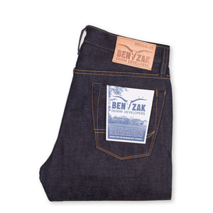 men's tapered fit japanese selvedge denim jeans | indigo | benzak BDD-711 special #1 low tension 14 oz. RHT | back