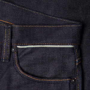 men's tapered fit japanese selvedge denim jeans | benzak BDD-711 special #1 low tension 14 oz. RHT | selvedge sixth pocket