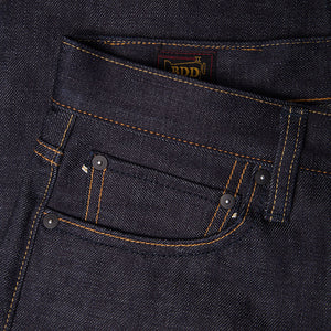 men's tapered fit japanese selvedge denim jeans | benzak BDD-711 special #1 low tension 14 oz. RHT | coin pocket