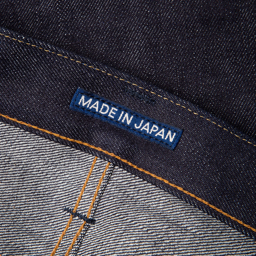 men's tapered fit japanese selvedge denim jeans | benzak BDD-711 special #1 low tension 14 oz. RHT | japan label