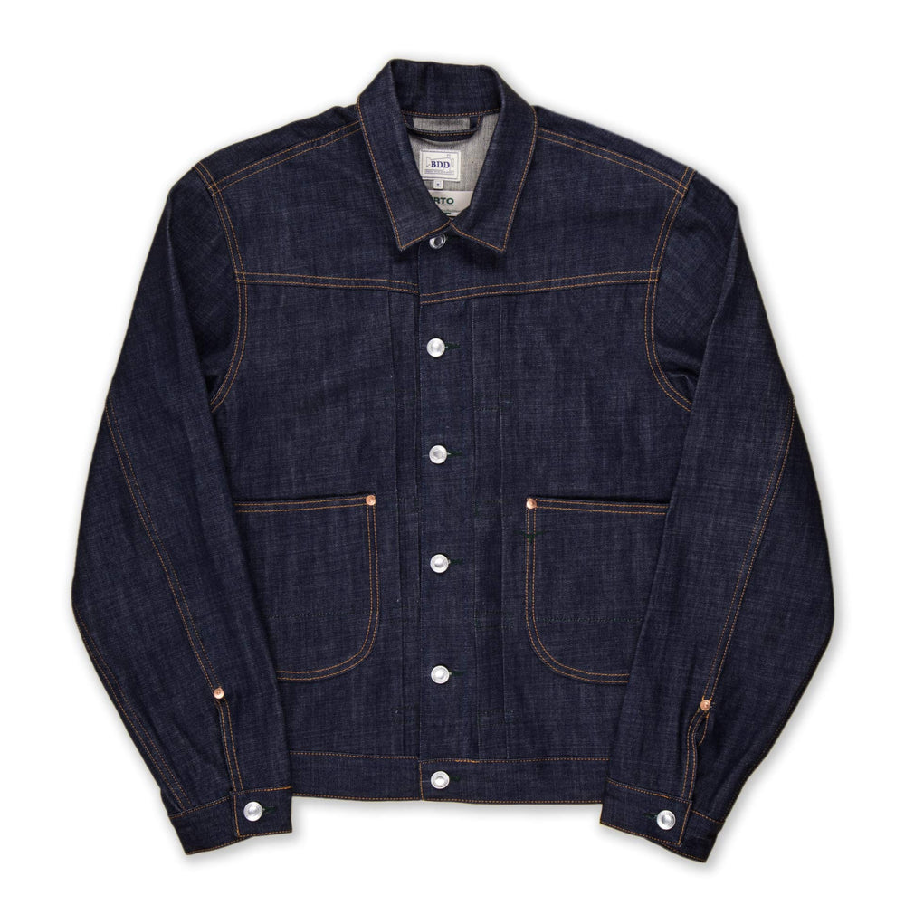 BDJ-01 COWBOY JACKET 11.5 oz. natural indigo eco denim