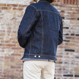 men's denim jacket | made in italy | BDJ-01 COWBOY JACKET 15 oz. vintage indigo selvedge | benzak | street style