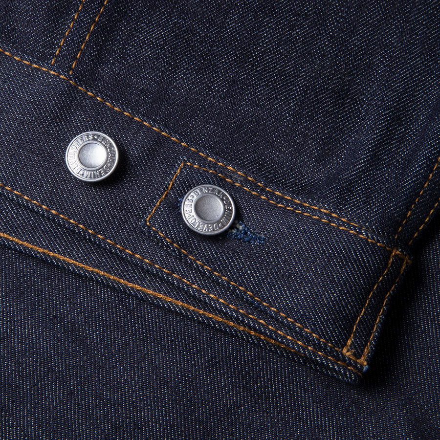 men's denim jacket | made in italy | BDJ-01 COWBOY JACKET 15 oz. vintage indigo selvedge | benzak | waist