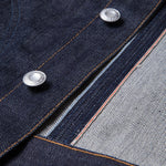 men's denim jacket | made in italy | BDJ-02 RIDER JACKET 15 oz. vintage indigo selvedge | benzak | details | 877 workshop