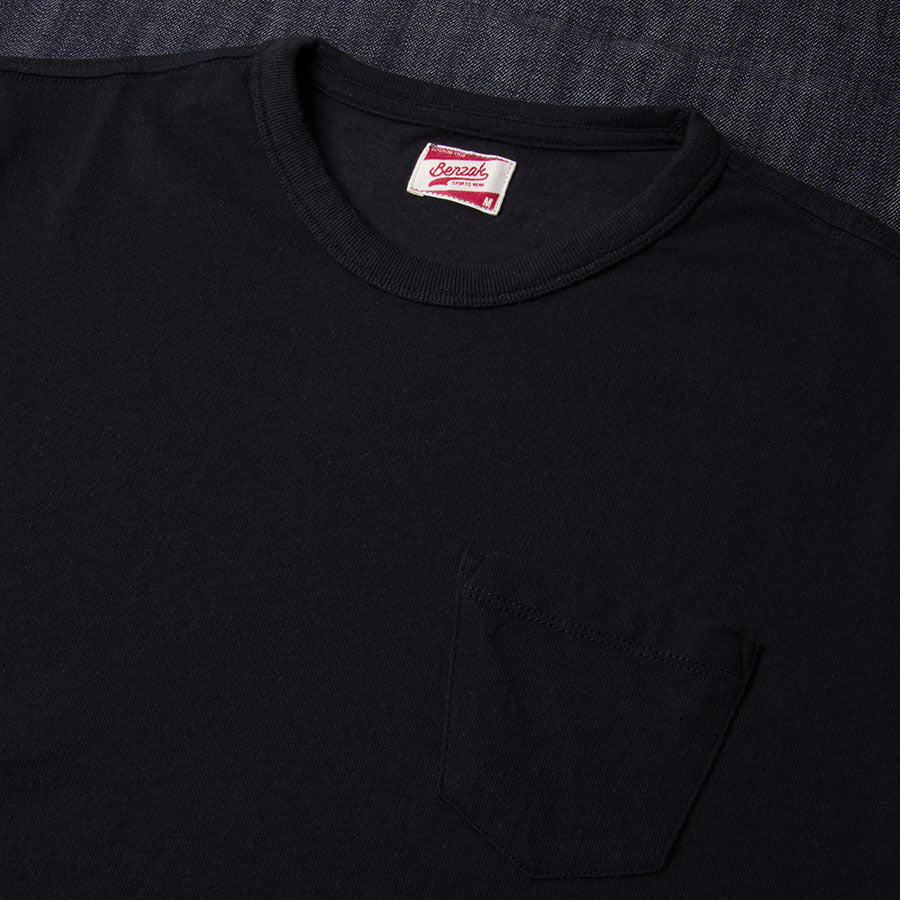 BT-01 POCKET TEE black heavy jersey