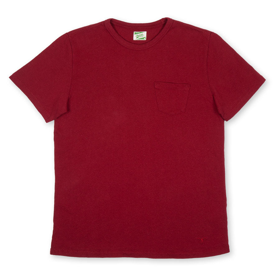 BT-01 POCKET TEE burgundy heavy jersey