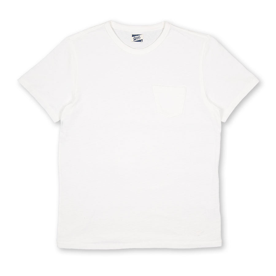 BT-01 POCKET TEE off white heavy jersey