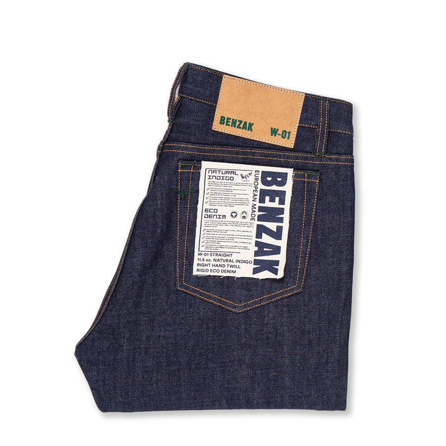 W-01 STRAIGHT 11.5 oz. natural indigo eco denim