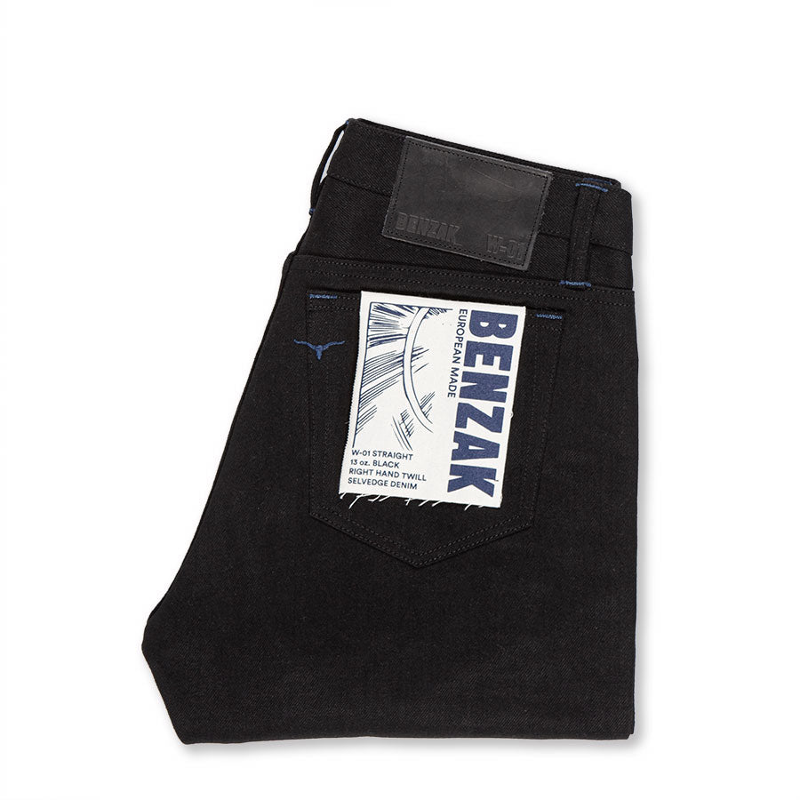 W-01 STRAIGHT 13 oz. black selvedge