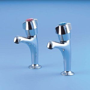 Armitage Nimbus Chrome High Neck Pillar Taps (6649400CP)