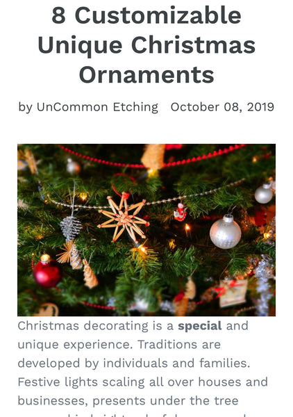 8 Customizable Unique Christmas Ornaments
