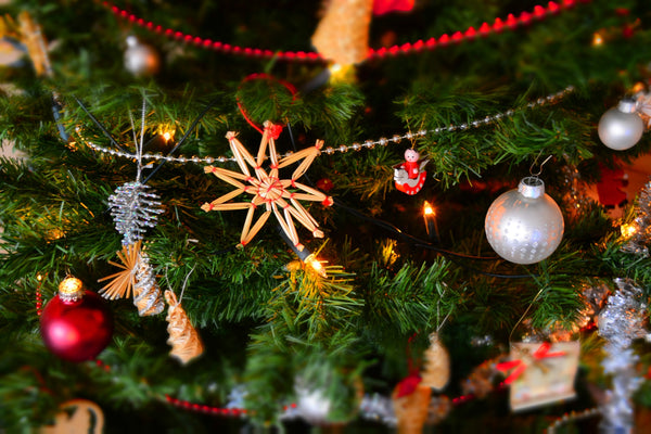 Festive Christmas Tree Cover In Ornaments