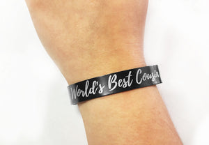 Personalized Aluminum Cuff Bracelet - uncommon-etching