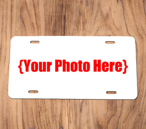 Metal Full Color License Plate Placeholder