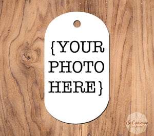 Full Color Picture Custom Aluminum Keychain/Dog Tag