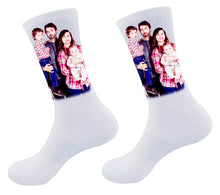 Load image into Gallery viewer, Custom Full-Color Photo Imprinted Socks