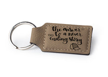 Load image into Gallery viewer, Personalized Custom Rectangular Leather Keychain - uncommon-etching