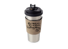 Load image into Gallery viewer, Personalized Leather Cup/Tumbler Sleeve - uncommon-etching