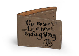 "Personalized Leather Wallet 4.75"" x 4.75"" - uncommon-etching"