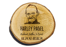 Load image into Gallery viewer, Personalized Genuine Birch Wood Circular Decorative Coasters - uncommon-etching