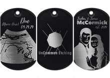 Load image into Gallery viewer, Personalized Anodized Aluminum Keychain/Dog Tag - uncommon-etching