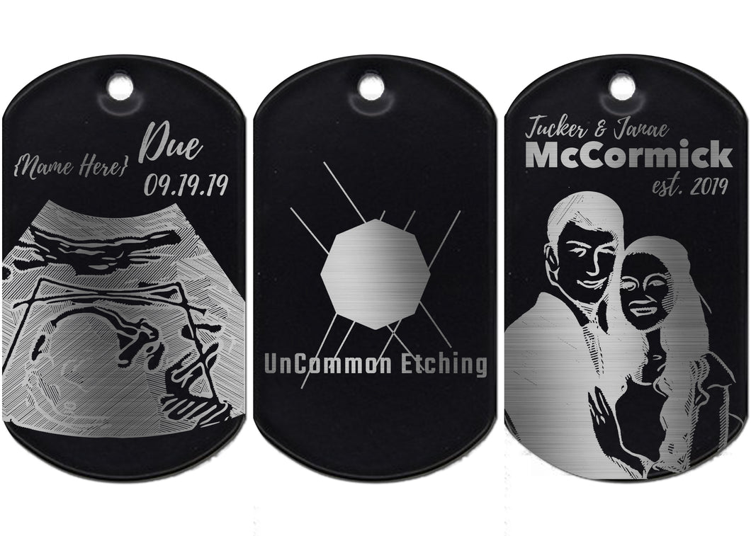 Personalized Anodized Aluminum Keychain/Dog Tag - uncommon-etching