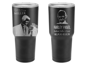 Personalized Double Wall Custom Stainless Steel Insulated Tumbler - uncommon-etching