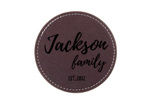 Load image into Gallery viewer, Personalized Leather Coffee Coasters - uncommon-etching