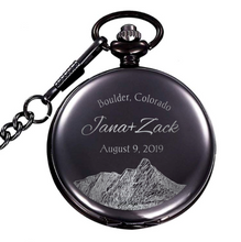 Load image into Gallery viewer, Personalized Natural Metal Mens Womens Vintage Quartz Pocket Watch - uncommon-etching