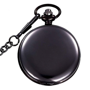 Personalized Natural Metal Mens Womens Vintage Quartz Pocket Watch - uncommon-etching