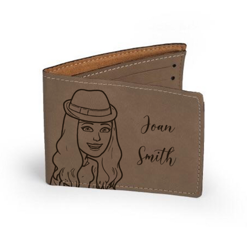 "Personalized Leather Wallet 4.75"" x 4.75"""