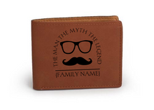 "Load image into Gallery viewer, Personalized Leather Wallet 4.75"" x 4.75"" - uncommon-etching"