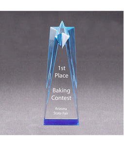 "Acrylic Shining Star Award/Trophy 3 1/2"" x 6"" x 2"" - uncommon-etching"
