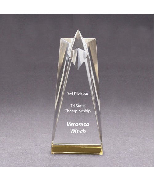 Acrylic Shining Star Award/Trophy 3 1/2