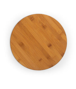"Personalized Customizable Round Bamboo Cutting Board (11.75"") - uncommon-etching"