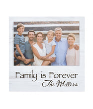 "Load image into Gallery viewer, Personalized White 7"" x 7"" Offset Photo Frame - uncommon-etching"