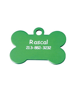 Custom Engraved Pet ID Tags for Dogs and Cats Pets Bone Shape - uncommon-etching