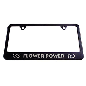 Personalized Black Metal License Plate Frame - uncommon-etching