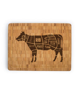 "Personalized Large Bamboo Butcher Block (11.8"" X 15.7"" X 1.38"") - uncommon-etching"