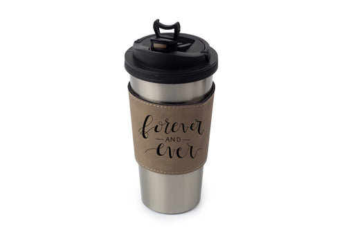 Personalized Leather Cup/Tumbler Sleeve - uncommon-etching