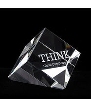 Load image into Gallery viewer, Personalized Genuine Crystal Paper Weight Shapes - uncommon-etching